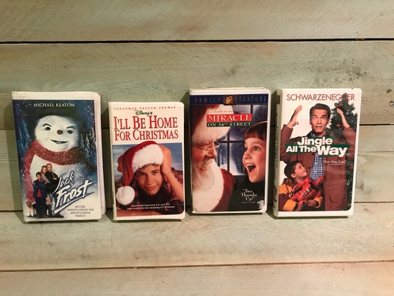Ill Be Home For Christmas Vhs.Vintage Christmas Movies Vhs Walt Disneys I Ll Be Home For Christmas Miracle On 34th Street Jack Frost And Jingle All They Way