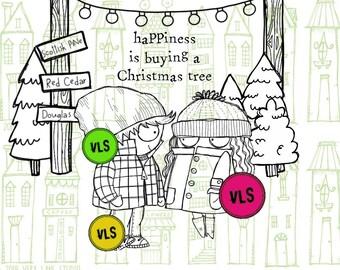 Tree Shopping -6 Digi stamps
