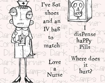 Nurse Dee - 7 digi stamp set