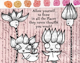 Digi stamps etsy the fleur fairies 5 digi stamp set in png and jpg files for instant download altavistaventures Image collections