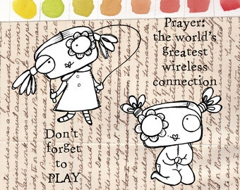 Play and Pray - 4 digi stamp set