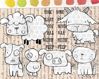Farm Animals Set 2 - 7 digi stamps