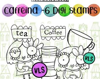 Caffeina- 6 digi stamp bundle