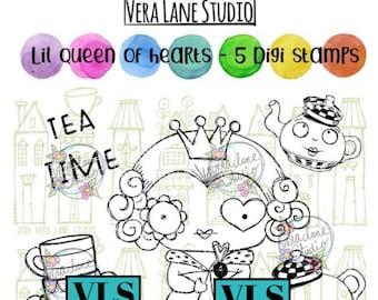 Lil Queen of Hearts - 5 digi stamp bundle