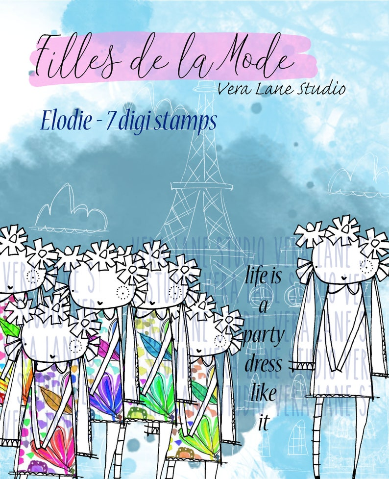 Elodie  Filles de la Mode  fashion gal digi stamp bundle  7 image 0