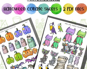 Halloween Collage Sheets - 2 PDF files
