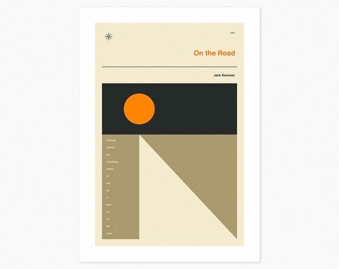 ON THE ROAD (Fine Art Print) Minimal, Book Cover Pop Art