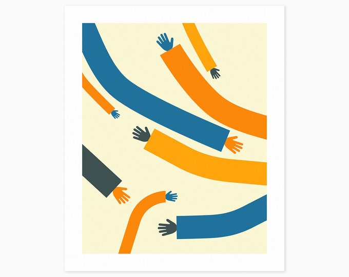 ARMS #1 (Fine Art Print)  Colorful, Minimal, Abstract Wall Art