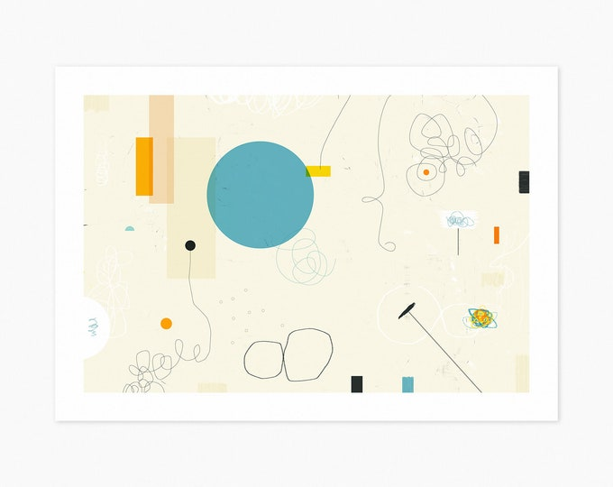 DOWNTOWN (Fine Art Print) Colorful, Minimal, Abstract Wall Art by Jazzberry Blue