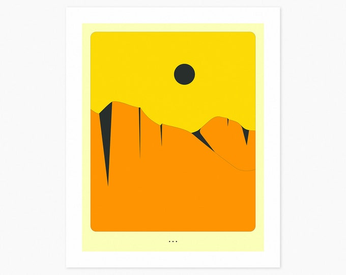 MINIMAL LANDSCAPE 16 (Fine Art Print) Orange Cliffs by Jazzberry Blue