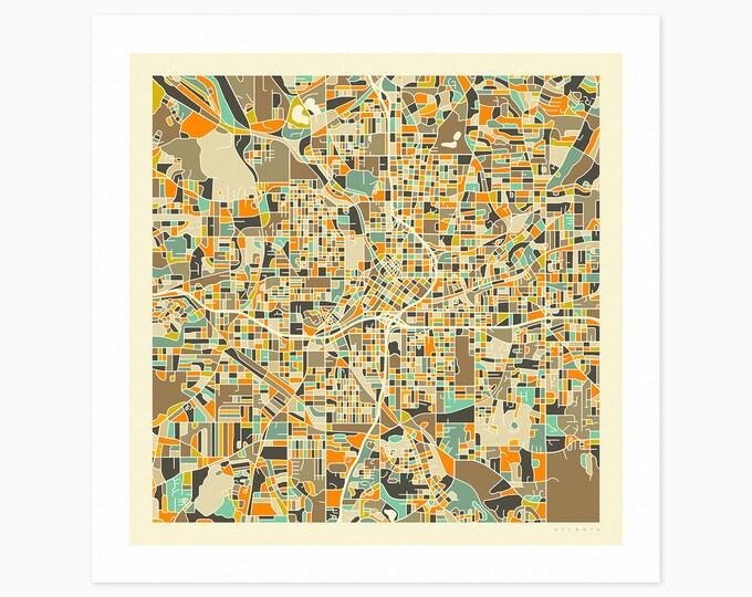ATLANTA Street Map (Fine Art Print) by Jazzberry Blue