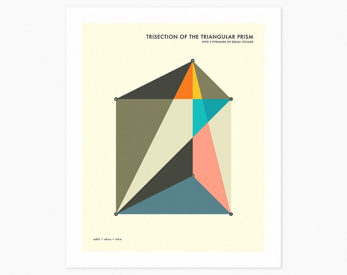 PRISM TRISECTION (Fine Art Print) Minimal, Geometric Art
