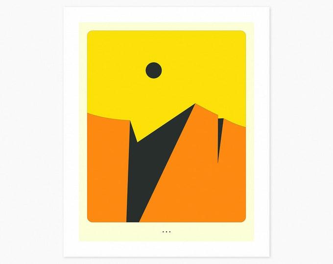 MINIMAL LANDSCAPE 30 (Fine Art Print) by Jazzberry Blue