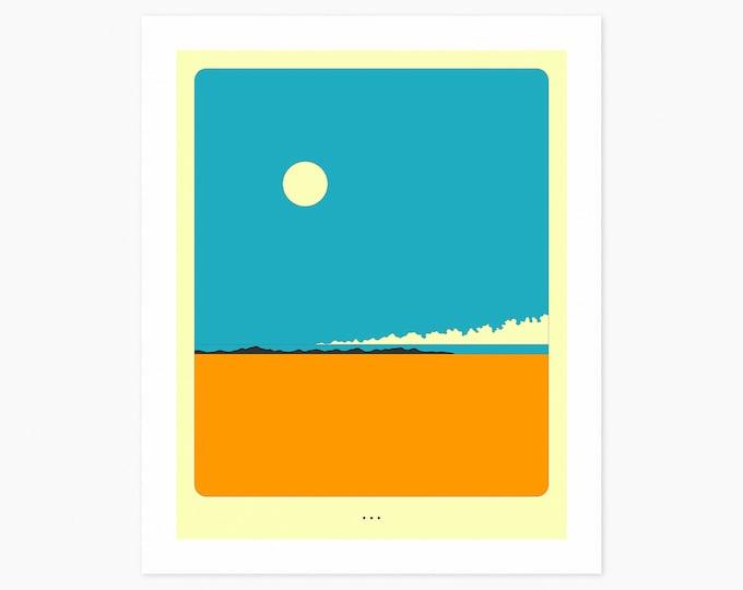 MINIMAL LANDSCAPE 27 (Fine Art Print) Desertscape by Jazzberry Blue