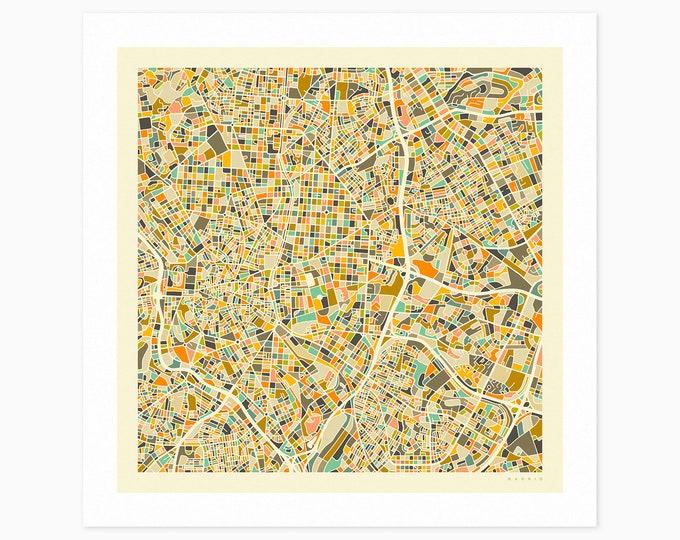 MADRID Street Map (Fine Art Print) by Jazzberry Blue