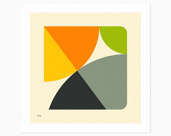 PYTHAGOREAN TRIAD (Fine Art Print) Minimal, Geometric, Abstract Wall Art