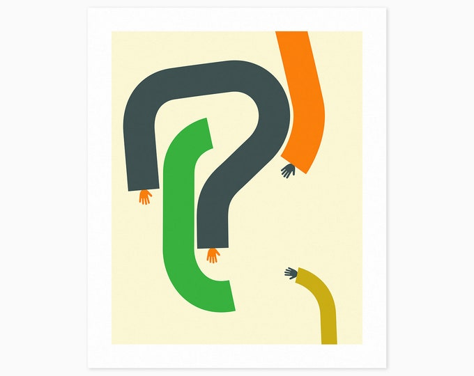 ARMS #3 (Fine Art Print) Colorful, Minimal, Abstract Wall Art