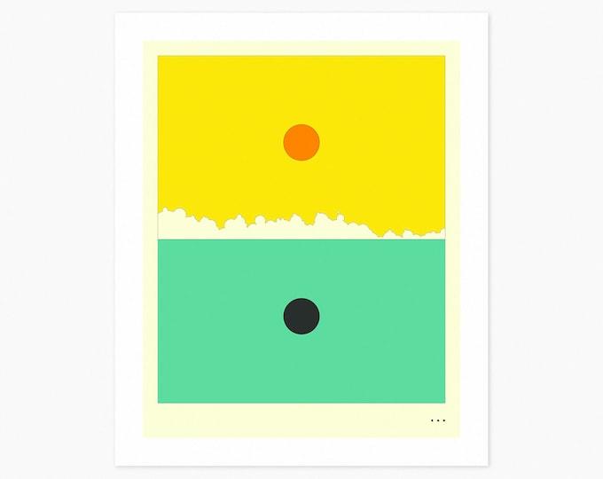 MINIMAL LANDSCAPE 18 (Fine Art Print) SUNRISE by Jazzberry Blue