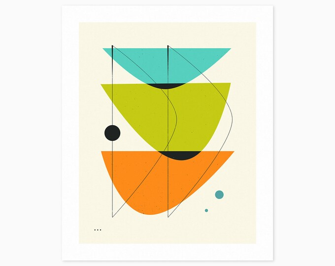 IMAGINARY 21 (Fine Art Print) Geometric Abstract Art by Jazzberry Blue