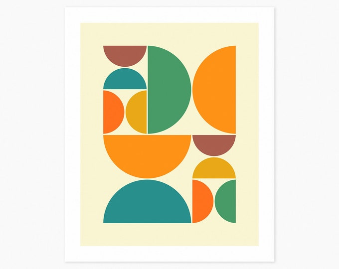 SYSTEMS 43 (Fine Art Print) Minimal Geometric Art by Jazzberry Blue