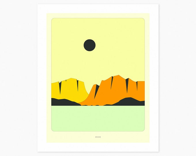 MINIMAL LANDSCAPE 24 (Fine Art Print) Mountains by Jazzberry Blue