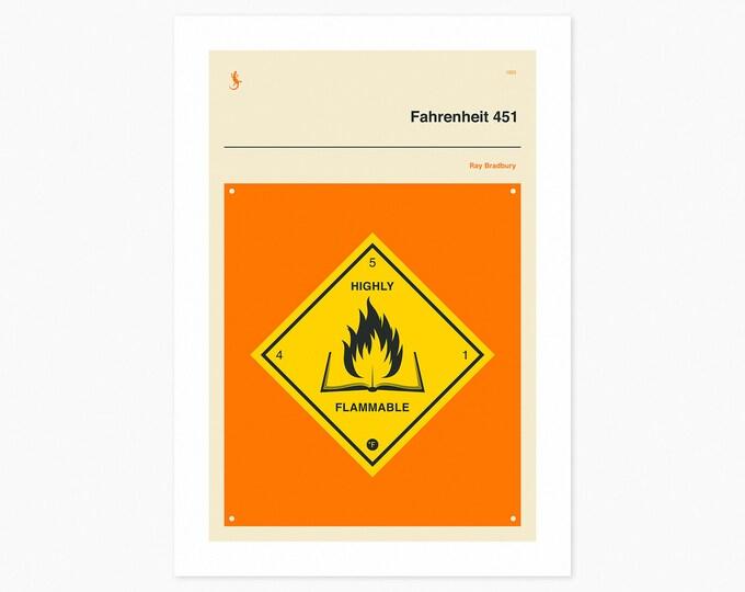 FAHRENHEIT 451 (Fine Art Print) Minimal, Book Cover Pop Art