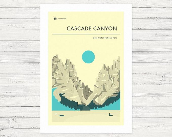 CASCADE CANYON (Giclée Fine Art Print or Poster Print) Grand Teton National Park by Jazzberry Blue