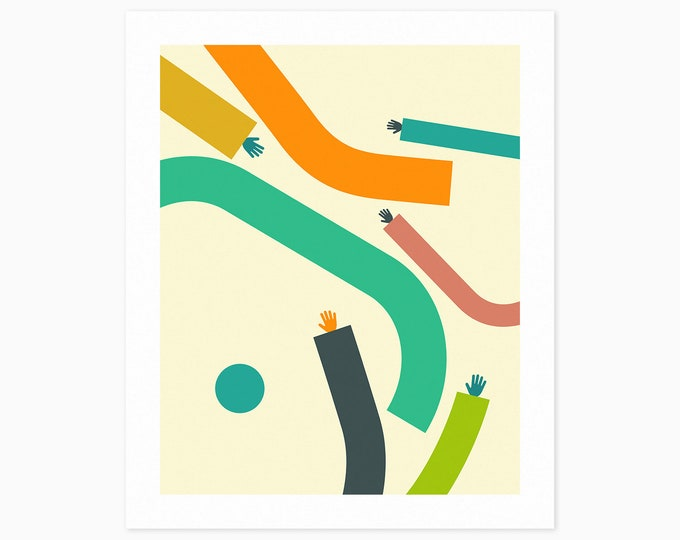 ARMS #6 (Fine Art Print) Colorful, Minimal, Abstract Wall Art