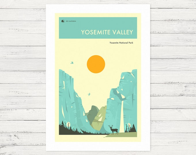 YOSEMITE VALLEY (Fine Art Print) Yosemite National Park by Jazzberry Blue