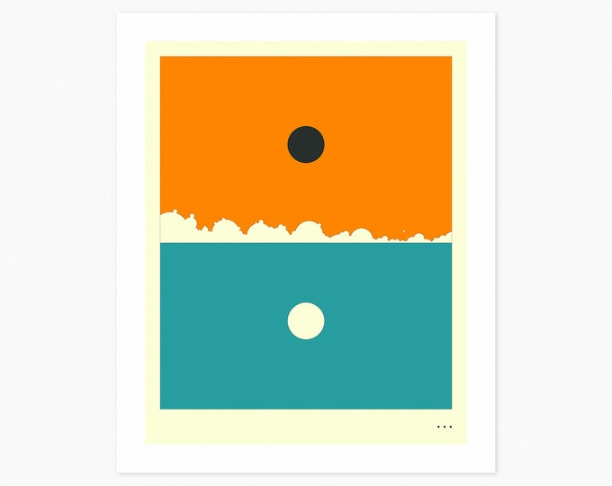 MINIMAL LANDSCAPE 19 (Fine Art Print) SUNSET by Jazzberry Blue