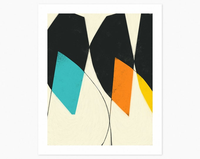 BYGONES (Fine Art Print) Colorful, Modern, Abstract Wall Art