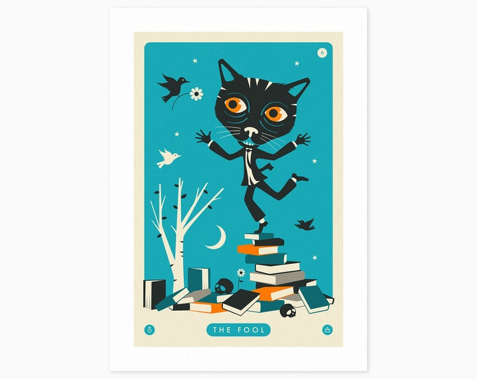 TAROT CARD CAT: The Fool (Fine Art Print) by Jazzberry Blue