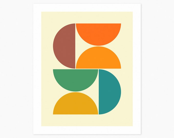 SYSTEMS 40 (Fine Art Print) Minimal Geometric Art by Jazzberry Blue
