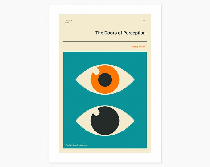 The DOORS OF PERCEPTION (Fine Art Print) Minimal, Book Cover Pop Art