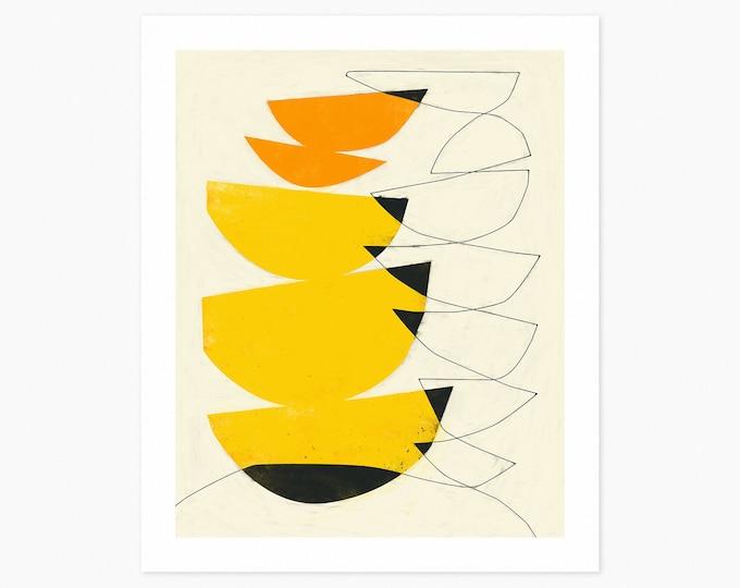 ALTER EGO (Fine Art Print) Modern, Minimal, Yellow, Abstract Wall Art