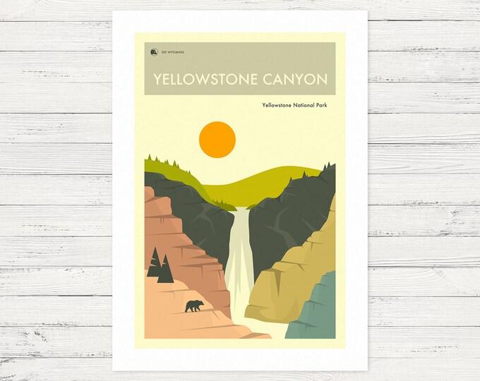 YELLOWSTONE CANYON (Fine Art Print) by Jazzberry Blue