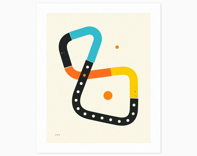 CONNECTIONS (Fine Art Print) Minimal, Geometric, Abstract Wall Art