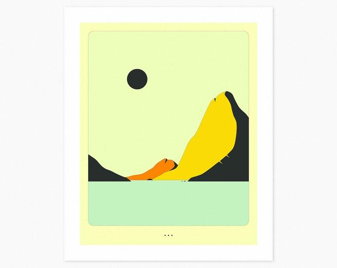 MINIMAL LANDSCAPE 23 (Fine Art Print) Seascape by Jazzberry Blue