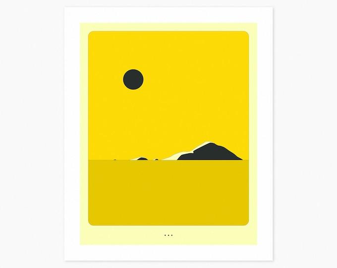 MINIMAL LANDSCAPE 22 (Fine Art Print) Island by Jazzberry Blue