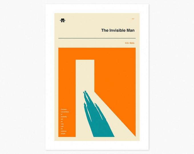 THE INVISIBLE MAN (Fine Art Print) Minimal, Book Cover Pop Art