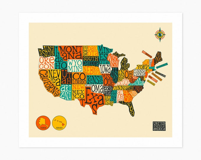 UNITED STATES MAP (Fine Art Print)
