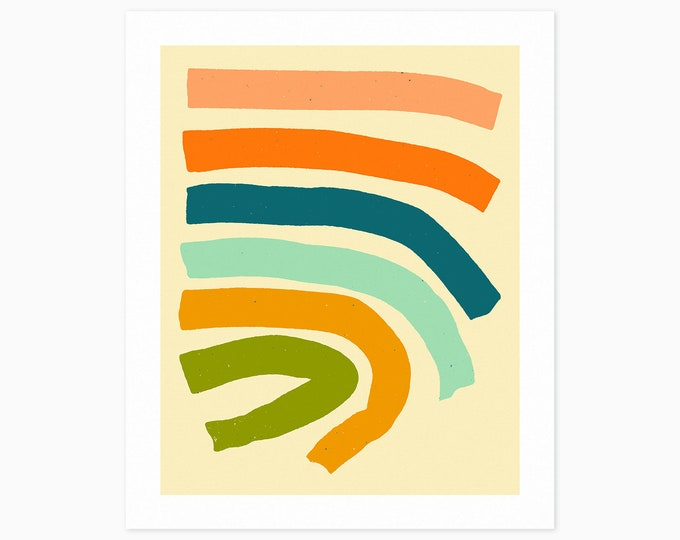 NOW AND THEN (Fine Art Print) Colorful, Minimal, Abstract Wall Art
