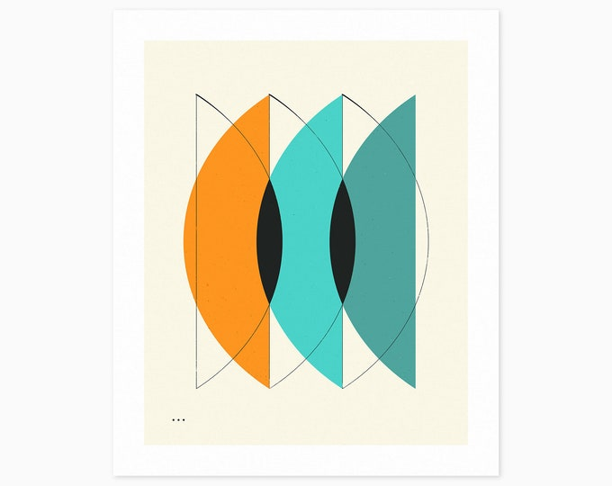 IMAGINARY 24 (Fine Art Print) Geometric Abstract Art by Jazzberry Blue