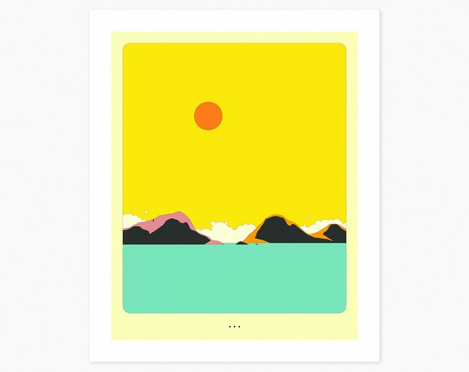 MINIMAL LANDSCAPE 20 (Fine Art Print) Seascape by Jazzberry Blue