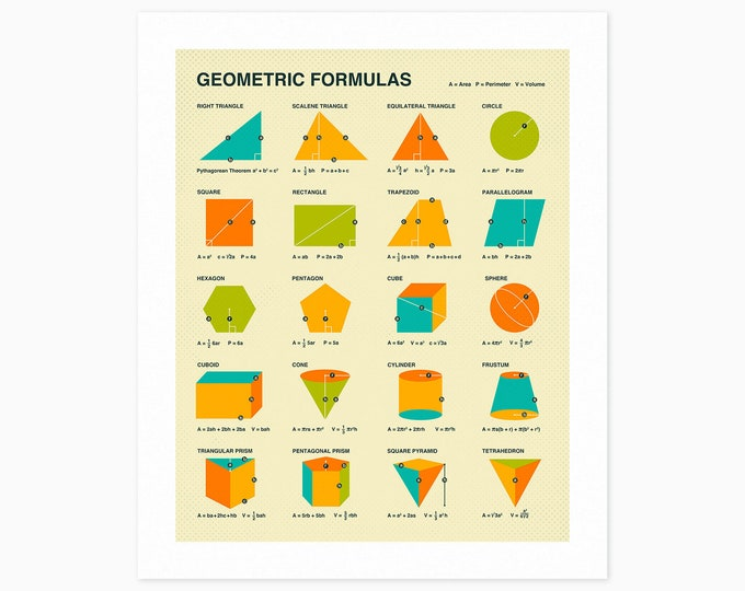 GEOMETRIC FORMULAS (Fine Art Print) by Jazzberry Blue