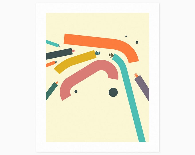 ARMS #7 (Fine Art Print) Colorful, Minimal, Abstract Wall Art