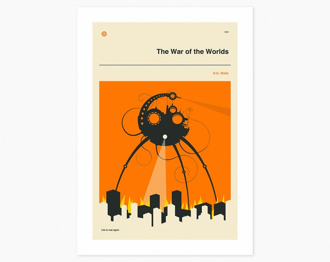 WAR Of The WORLDS (Fine Art Print) Minimal, Book Cover Pop Art