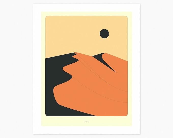 MINIMAL LANDSCAPE 12 (Fine Art Print) Sand Dune by Jazzberry Blue