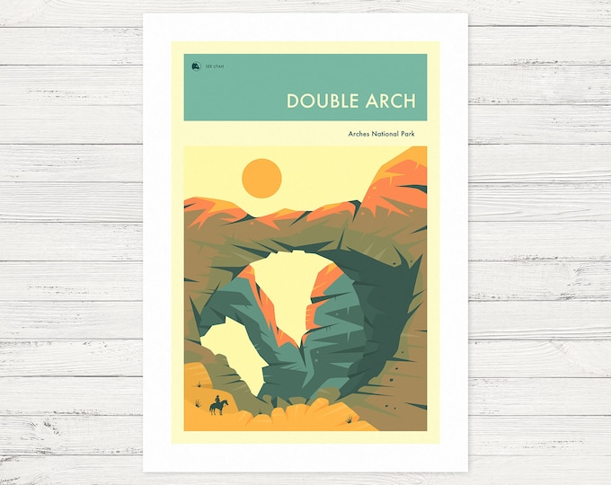 THE DOUBLE ARCH (Fine Art Print) Arches National Park by Jazzberry Blue
