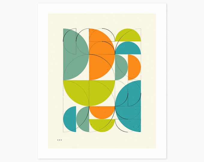 IMAGINARY 7 (Fine Art Print) Geometric Abstract Art by Jazzberry Blue
